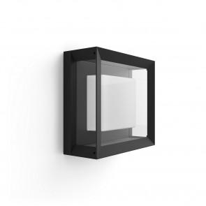 White & Col. Amb. Econic 26 x 26 cm schwarz 1-flammig quadratisch