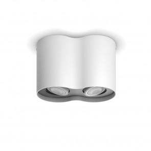 White Amb. Pillar weiß 2 flg. 2 x 350lm Dimmschalter B-Ware