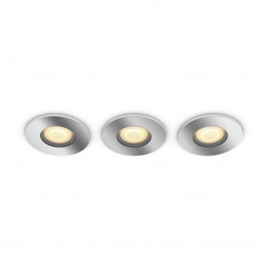 White Amb. Adore 3er-Set Ø 9,4 cm chrom 1-flammig rund B-Ware