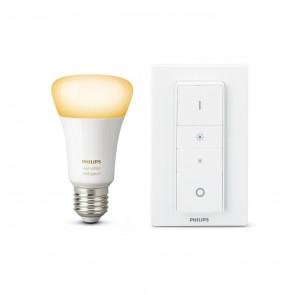 White Amb. LED E27 Light Recipe Kit, 9,5W, inkl. Dimmschalter