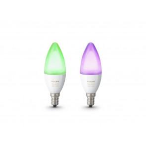 E14 Kerze White & Color Ambiance, 2er Erweiterung, 470 lm, 2.000-6.500 K