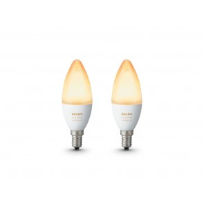 White Amb. LED E14 Doppelpack, 2x6W, Bridge erforderlich
