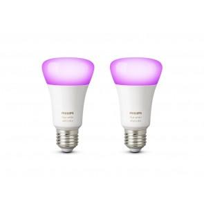 White & Color Amb. LED E27 Doppelpack, 2x9,5W, Bridge erforderlich