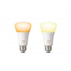 White Amb. LED E27 Doppelpack, 2x9,5W, Bridge erforderlich