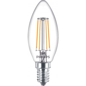 LED E14, Kerzenform, ersetzt 40 W, warmweiß (2700), 470 Lumen, Glas, 2er Pack