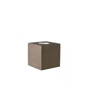 Cubic, kaffeefarben