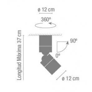 Stage, graphit grau matt, Höhe 37 cm