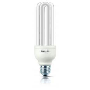 Energiesparlampe Genie, E27, Warmweiß, 10.000 Std., 23W