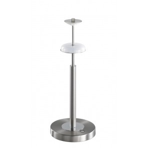 Toulouse, nickel matt, Höhe 45 cm, inkl LED, ohne Schirm