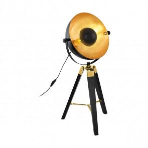 Covaleda Höhe 73,5 cm schwarz-gold 1-flammig rund