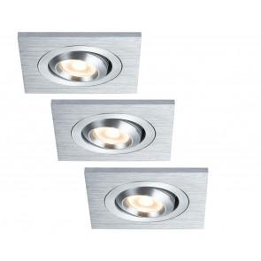 Premium Line Drilled Alu, LED, 3x3 W
