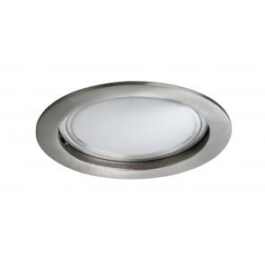 Coin satiniert rund starr LED 1x14W 2700K 230V Eisen