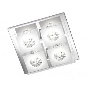 Reims, 4-flammig, Glaskristalle, inkl LED