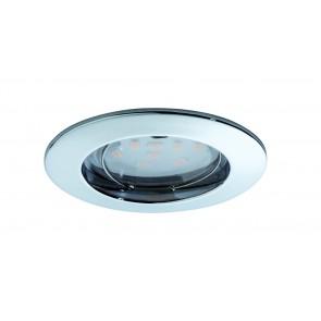Coin klar rund starr LED 3x6,8W 2700K 230V Chrom