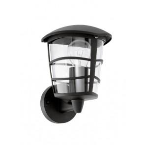 Aloria, 1-flammig, IP44, Höhe 22,5 cm, schwarz