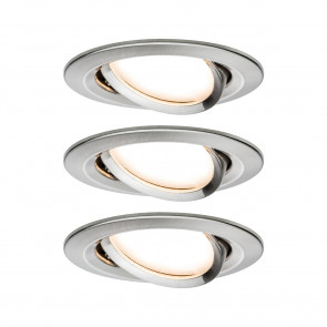 Nova 3er-Set Ø 8,4 cm metallisch 1-flammig rund