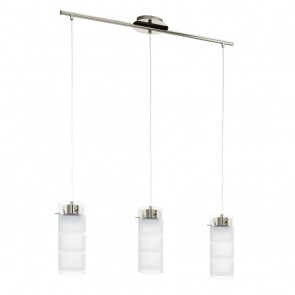 Olvero, LED, 3-flammig, Nickel-Matt