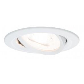 Premium, EBL LED, 3er Set Nova, rund schwenkbar LED 3x6,1W 230V Weiß matt/Alu