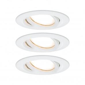 Nova Plus Coin 3er-Set Ø 9,3 cm weiß 1-flammig rund