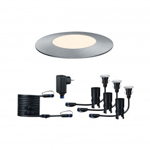 Plug & Shine Floor Mini Ø 5,5 cm silber 1-flammig 3000K 3er-Set