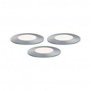 Plug & Shine Floor Mini Set Ø 5,5 cm silber 3er-Set 4000K