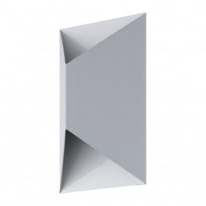 Predazzo, IP44, inkl LED, Silber/Weiß