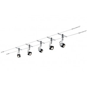 Set Phase, schwarz / chrom, LED, 5 x 5 W