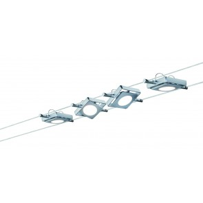 Wire Systems DC Set MacLED, 4x4W Chrom matt 230V/12V DC 30VA Metall