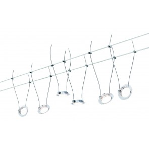 Wire Systems DC Set LED Twist, Coin 6x4W Chr matt/transp 230V/12V DC 30VA Metall
