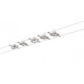 WireSystem Set MacII Länge 10 M metallisch 5-flammig eckig