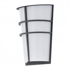 Breganzo, Höhe 25 cm, IP44, inkl LED, anthrazit/ weiß