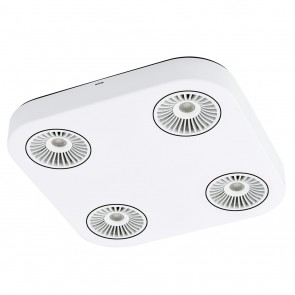 Montale, 4-flammig, inkl LED, weiß-schwarz