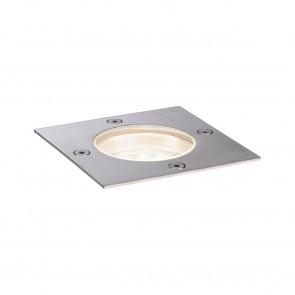 Plug & Shine 10 x 10 cm Edelstahl 3000K