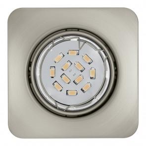 Peneto, 8,7 x 8,7 cm, 3er-Set, inkl LED, nickel matt