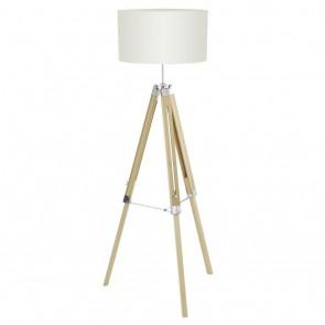 EGLO Lantada, Holz/ Stahl, Höhe max. 150 cm, beige