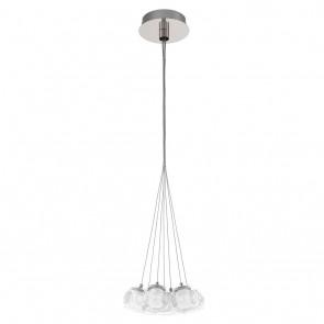 Poldras, Glas satiniert - klar, mit Aluminiumdraht, inkl LED