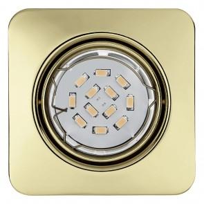 Peneto, 8,7 x 8,7 cm, inkl LED, Messing