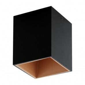 Polasso, LED, 10 x 10 cm, Schwarz-Kupfer