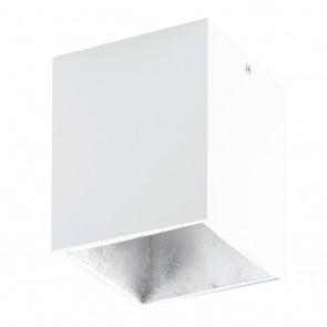 EGLO Polasso, 10x 10cm, inkl. LED, Weiß/ Silber