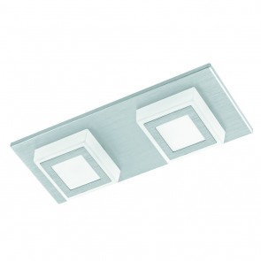 Masiano, LED, 2-flammig, metallisch