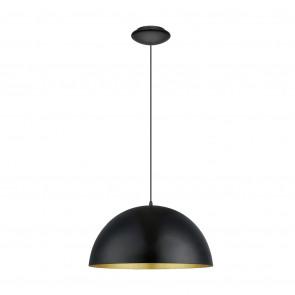 Gaetano 1, E27, IP20, schwarz-gold