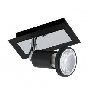 Sarria, 1-flammig, inkl LED, Schwarz