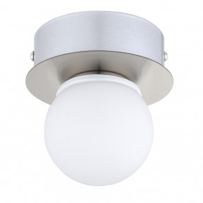 Mosiano, 1-flammig, IP44, inkl LED, nickel matt