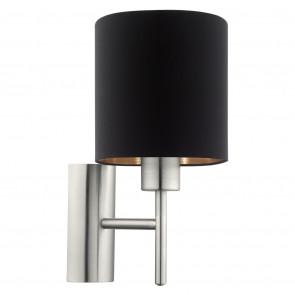 Pasteri Höhe 31 cm schwarz/kupfer 1-flammig rund