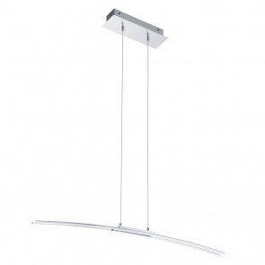 Lasana, Länge 90 cm, Höhe 100 cm, inkl LED, chromfarben