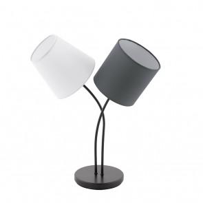 EGLO Almeida, 2-flammig, Höhe 47,5 cm, weiß/ anthrazit