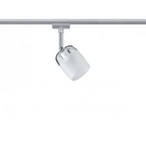 URail System Spot Blossom, max 1x10W G9 Chrom matt/Klar/Satin 230V Metall/Glas