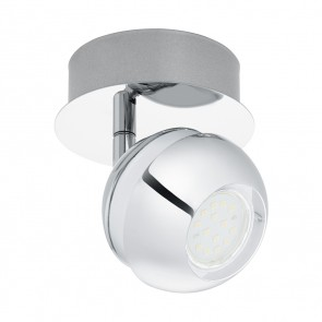 EGLO Nocito 1, 1-flammig, inkl LED, Weiß/ Chrom