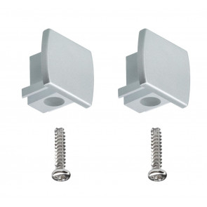 Universal Endcap 2er-Set Höhe 1,8 cm metallisch eckig
