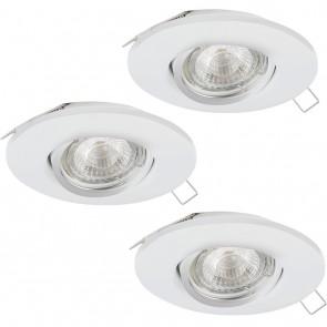 Peneto 1, Ø 10,8 cm, 3er-Set, inkl LED, Weiß